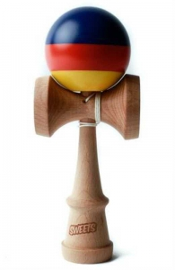 Sweets Kendama Prime Stripes Fiesta | Cushion Clear
